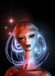 alien woman head