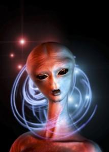 alien woman head
