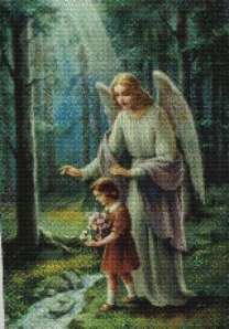 Angel guiding child