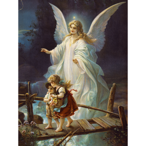 Angel guiding children